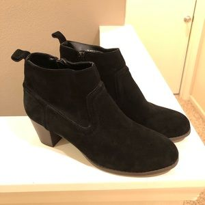 Mossimo Supply Co. Kaelyn Black Suede Booties 9.5